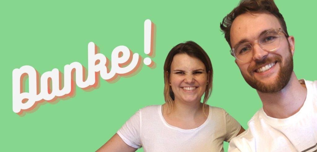 Das Bild zeigt Tanja Hille und Vincent Venus vom Y Politik-Podcast.