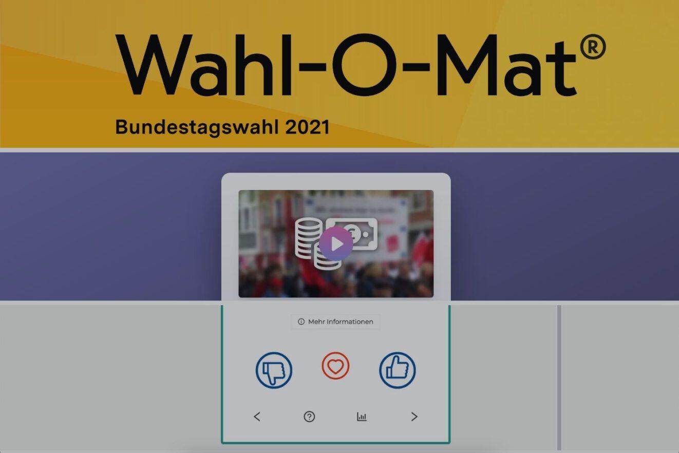 Die Grafik zeigt Screenshots des Wahl-o-Maten und seiner Alternativen WahlSwiper und DeinWal.